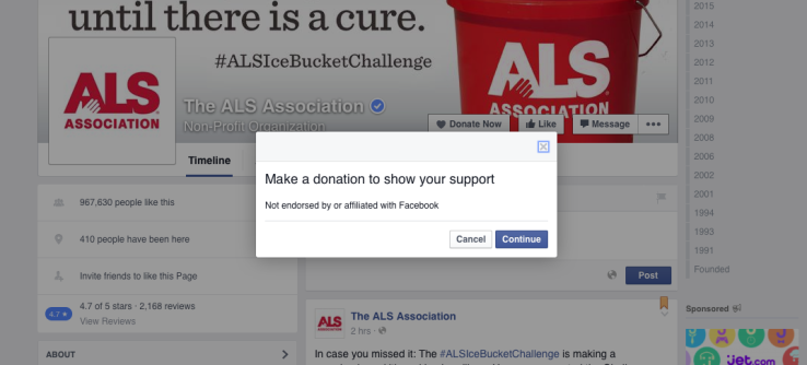 """Facebook now provides all nonprofits with """"Donate Now"""" button"""